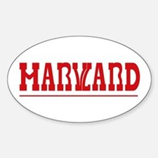 Maryland-Harvard Oval Decal