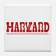 Maryland-Harvard Tile Coaster