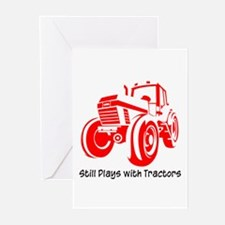 Red Tractor Greeting Cards (Pk of 10)