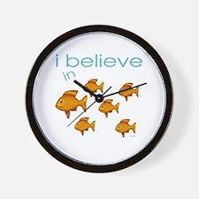 I believe in fish Wall Clock