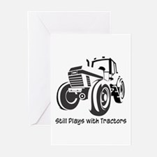 Still Plays with Tractors Greeting Cards (Package