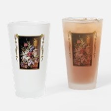 Peonies Floral Still Life Drinking Glass
