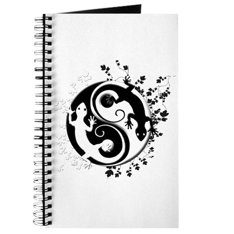 Black & White Gecko Yin-Yang Journal