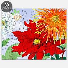 Dahlias! Japanese Woodcut Puzzle