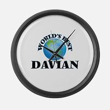 World's Best Davian Large Wall Clock