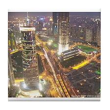 Unique China travel Tile Coaster