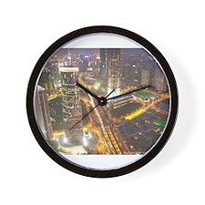 Cute City architecture Wall Clock