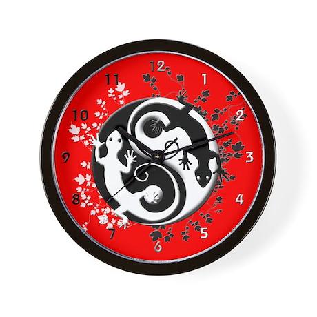 Yin Yang Gecko Wall Clock