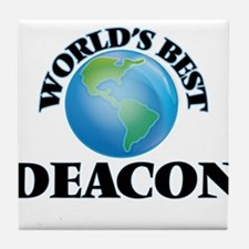 World's Best Deacon Tile Coaster