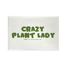 Crazy Plant Lady II Rectangle Magnet