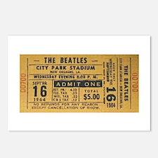 Beatles Ticket Postcards (8)