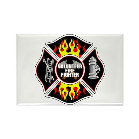 Volunteer Fire Dept Rectangle Magnet (100 pack)