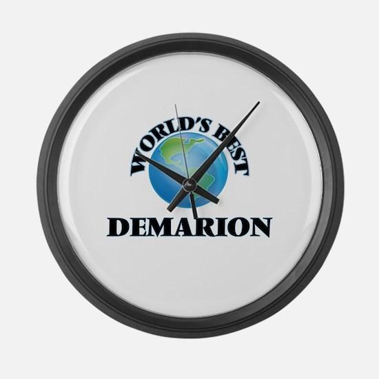 World's Best Demarion Large Wall Clock