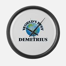 World's Best Demetrius Large Wall Clock