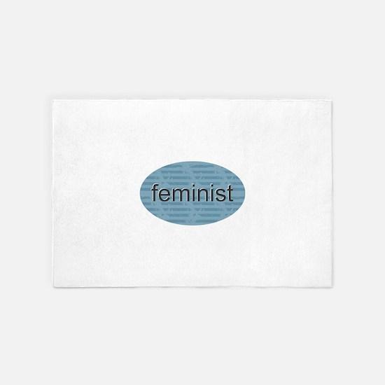 Feminist - Blue 4' x 6' Rug