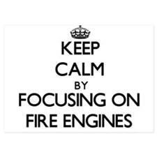 Keep Calm by focusing on Fire Engines Invitations