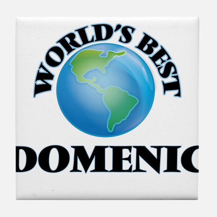 World's Best Domenic Tile Coaster