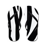 Zebra Striped animal Flip Flops