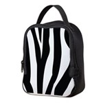 Zebra Striped animal Neoprene Lunch Bag