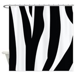 Zebra Striped animal Shower Curtain