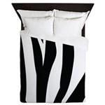 Zebra Striped animal Queen Duvet