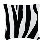 Zebra Striped animal Woven Throw Pillow