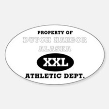 Dutch Harbor Athletic Dept. Oval Decal