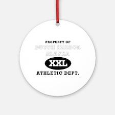 Dutch Harbor Athletic Dept. Ornament (Round)