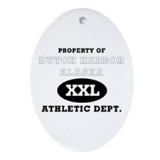 Dutch Harbor Athletic Dept. Oval Ornament