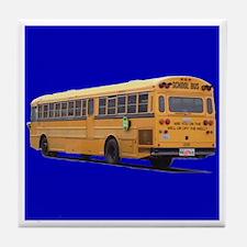 WELL photo School Bus Tile Coaster