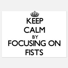 Keep Calm by focusing on Fists Invitations