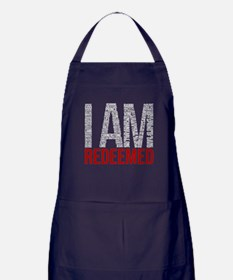 I Am Redeemed - White/Red Apron (dark)