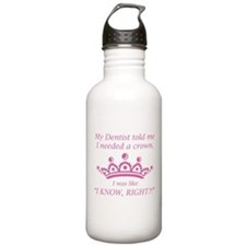 I Needed A Crown Sports Water Bottle