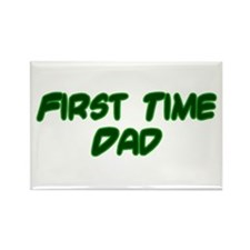 First Time Dad Rectangle Magnet (10 pack)