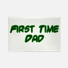 First Time Dad Rectangle Magnet