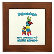 Panatas Are Victims Of Child Abuse Framed Tile