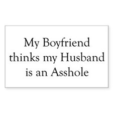 Boyfriend Husband Asshole Rectangle Decal