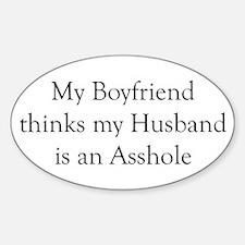Boyfriend Husband Asshole Oval Decal