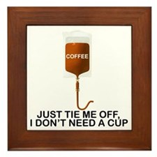 Intravenous Coffee Framed Tile