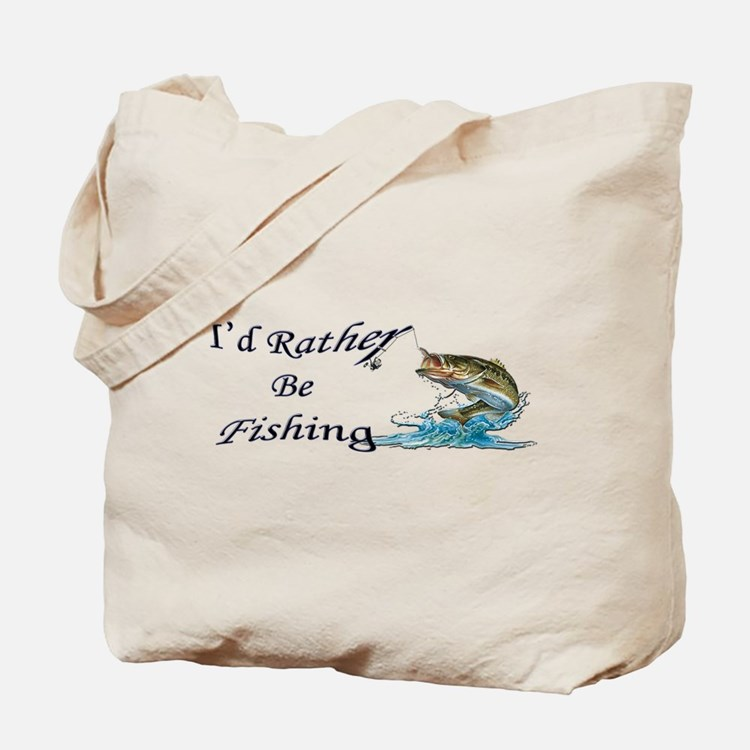 Rather Be Fishing Tote Bag