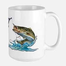 Rather Be Fishing Large Mug