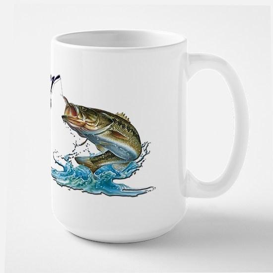 Rather Be Fishing Large Mug