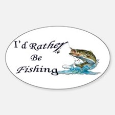 Rather Be Fishing Oval Decal