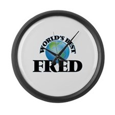 World's Best Fred Large Wall Clock