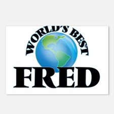 World's Best Fred Postcards (Package of 8)