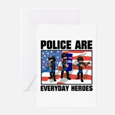 Police are Heroes Greeting Cards (Pk of 10)