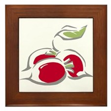 Radishes Framed Tile