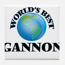 World's Best Gannon Tile Coaster