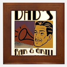 Dad's Bar & Grill (RETRO) Framed Tile