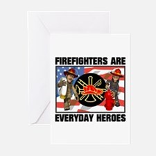 Firefighter Heroes Greeting Cards (Pk of 10)